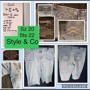🛍2/$20 Style & Co Macy's jean capris 20 fits 22